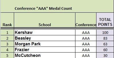 CMSDL AAA Medal Count Final 2014