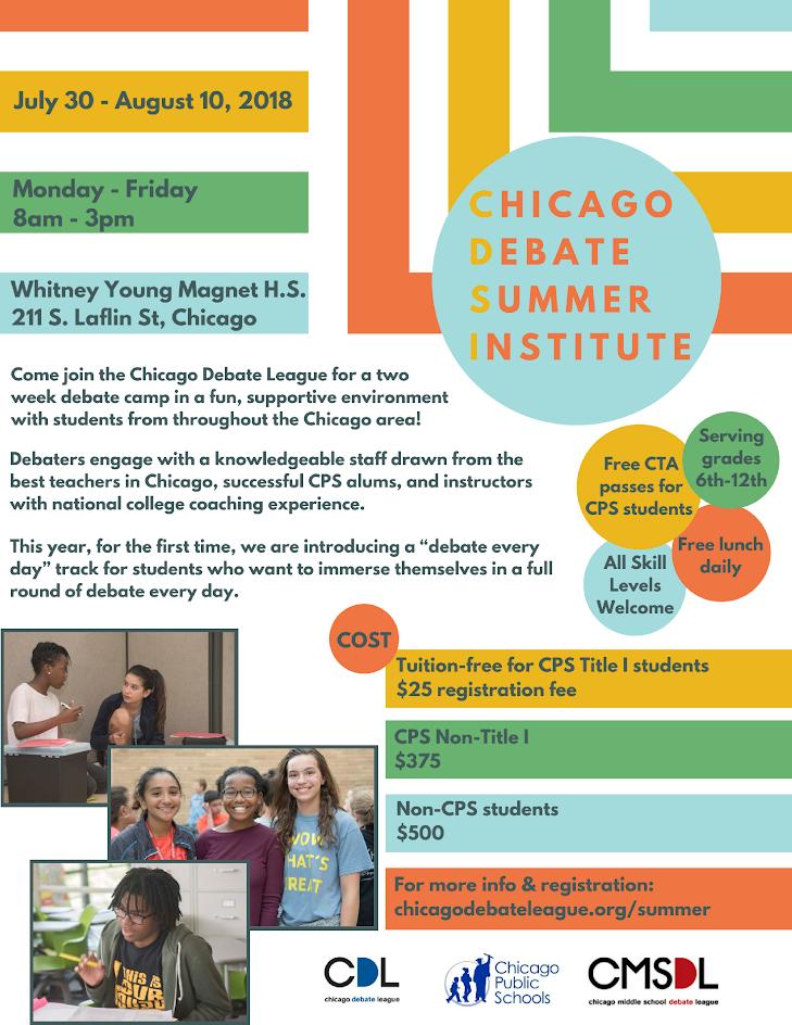 CDSI Summer Camps – Chicago Debates: Resources